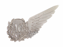 Air Gunner Royal Air Force RAF MOD Single Wing Nickel Pin Badge / Brevet